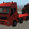 Iveco truck with Palfinger  crane